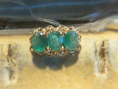 Analytisch Antik Jugendstil Um 1900 Einmaliger Smaragd Gold Ring Rw 55 / 17,5 Goldring Rar Ausgezeichnete (In) QualitäT