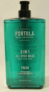 Portola Mens Grooming 3 In 1 All Over Wash Fresh Citrus Bergamot 33 8 Fl Oz New Ebay