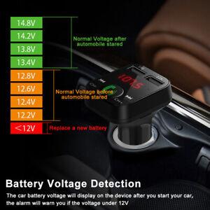 Voiture-Kit-Chargeur-Bluetooth-Transmetteur-Mains-Libres-Sans-Fil-MP3-2USB-FM-CP