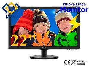 """Monitor 22"""" Pollici VGA per DVR / NVR / PC per KIT di videosorveglianza computer"""