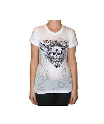 Nuovio Con Etichette Donna Metal Mulisha Consumarsi T-shirt Taglia S L Bianco Per Classificare Prima Tra Prodotti Simili