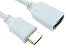 0.5m HDMI EXTENSION Cable Male to Female v1.4 3D High Speed With Ethernet WHITE