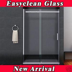 Frameless sliding shower enclosure 8mm easyclean glass for 1200 shower door 8mm glass