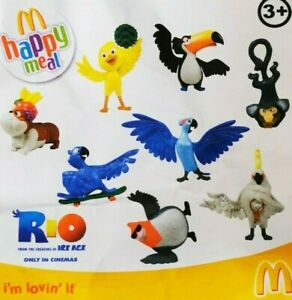 McDonalds-Happy-Meal-Toy-2011-UK-Rio-Bird-Movie-Character-Plastic-Toys-Various