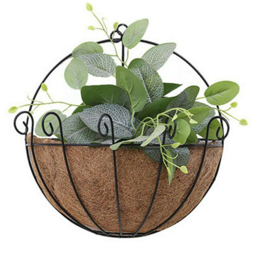Unique Garden Balcony Hanging Flower Plant Pot Basket Planter Holder Decor