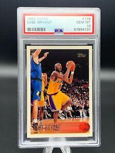 "1996 - 97 Topps #138 KOBE BRYANT Rookie Lakers HOF RC - PSA 10  ""GEM MINT"" 📈🔥"