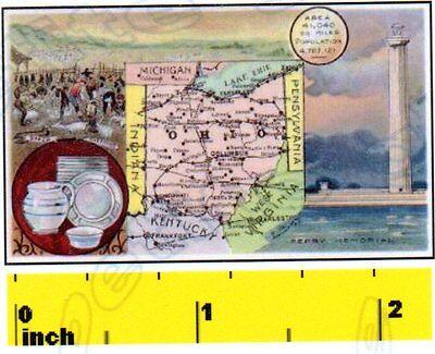 DOLLSHOUSE Vintage Miniature State of Colorado   1888   MAP  Print CDHM