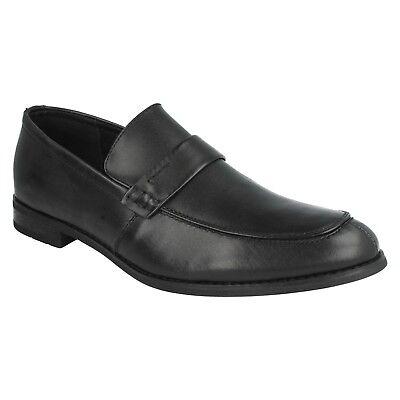 Herren Elegant Formell einfach schwarz Leder Mokassins Slipper Arbeitsschuhe