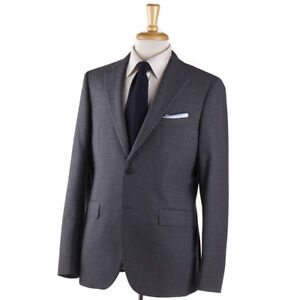 NWT-1700-BOGLIOLI-039-Sforza-039-Solid-Medium-Gray-Woven-Wool-Suit-40-R-Eu-50