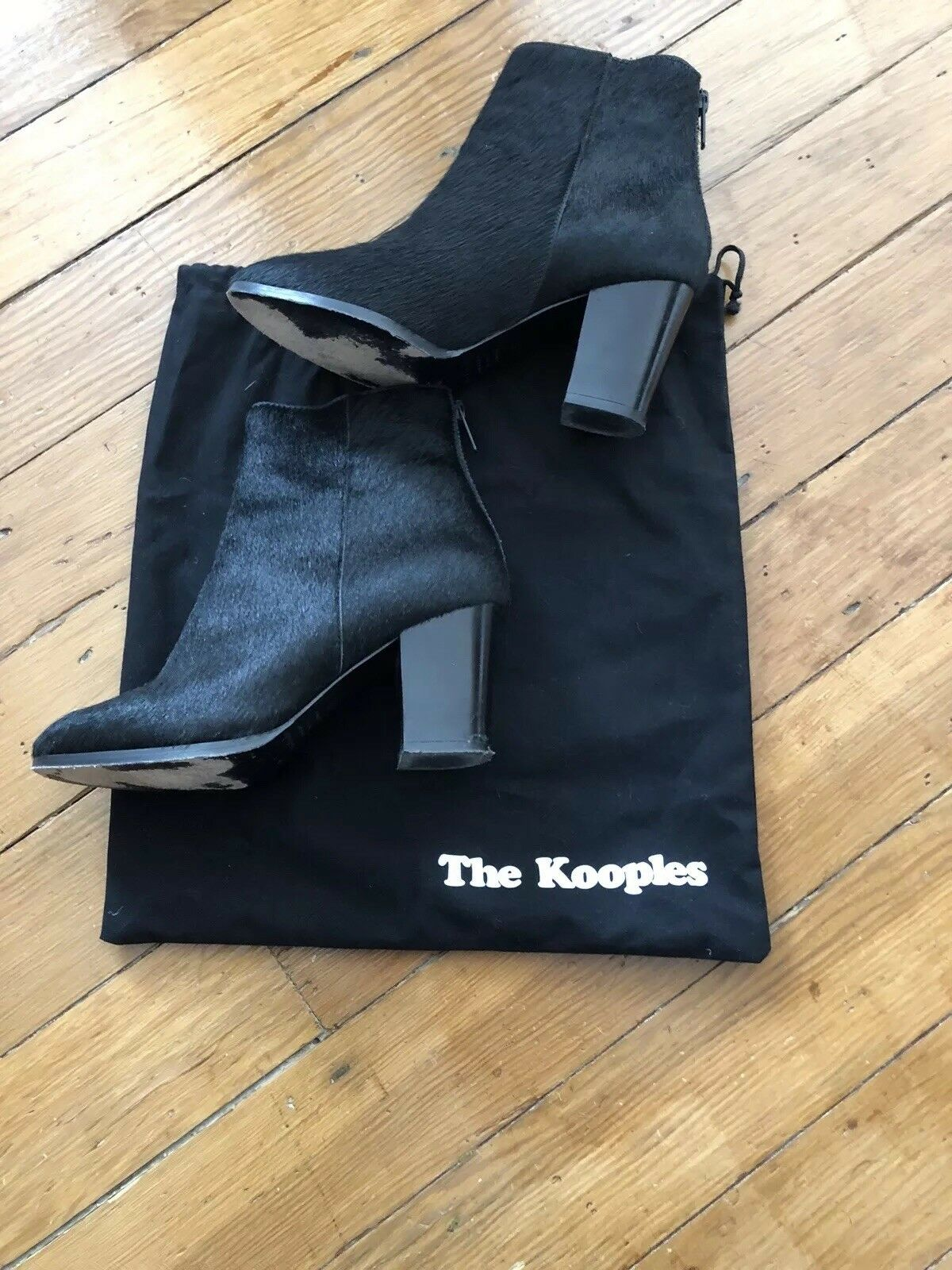 Kooples Pony Hair Leather Ankle Boots