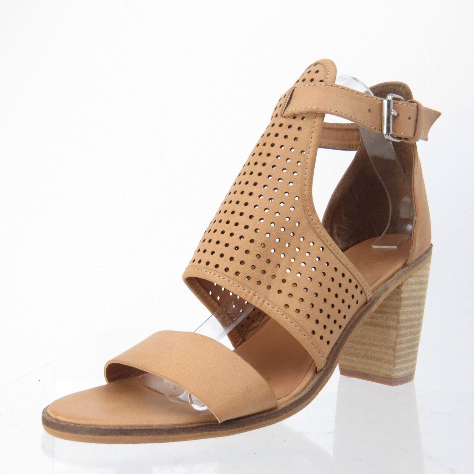 Women's Sandals Shoes MODERN REBEL Pascal Heel Tan Open Toe Sandals Women's Size 9 M NEW d9339b