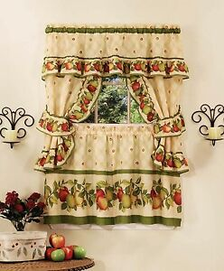 Image Is Loading Le Orchard Complete Kitchen Curtain Set 36 034