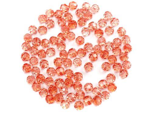 Preciosa Genuine Czech Round MC Faceted Crystals Crystal Sweet Orange 6mm Beads
