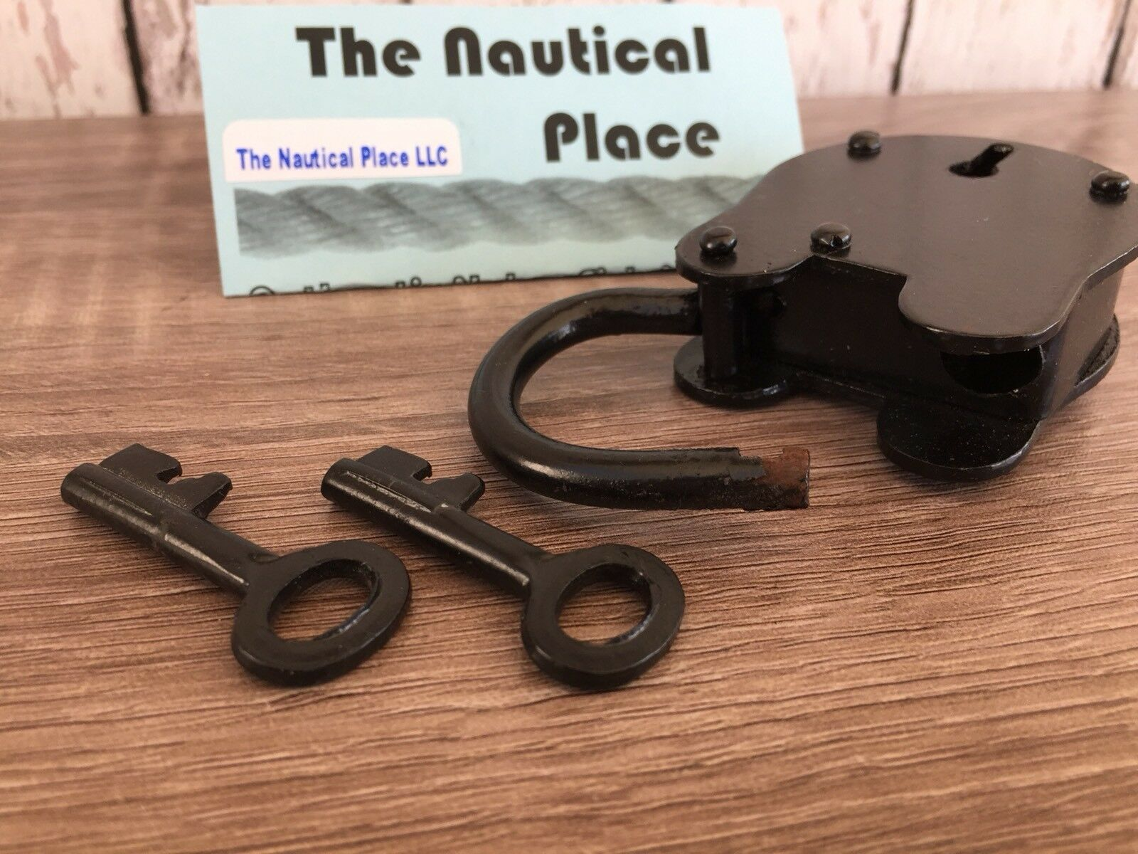 x Iron Lock /& Keys ~ Old Vintage Antique 1800s Style ~ Black Jailer Police 2