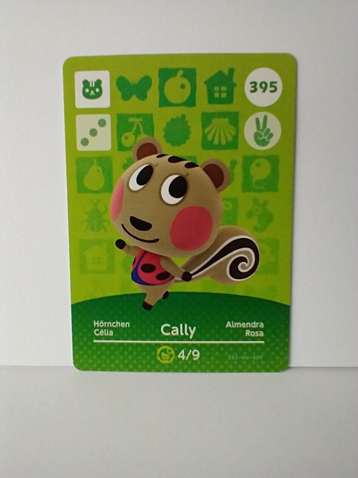 Genuine Animal Crossing Cally 395 Amiibo Card Series 4 New & Unused