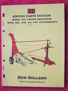 Vintage 1963 New Holland Machine Company Model 616 Forage Harvester poster
