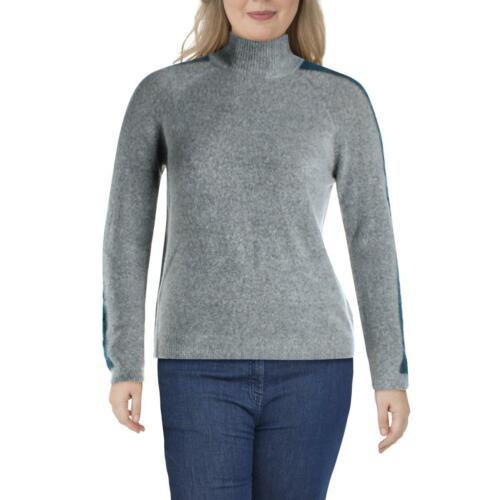 Willow /& Clay Womens Gray Striped Side Zip Mock Turtleneck Sweater XL BHFO 5836