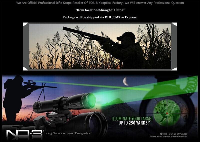 Outdoor Hunting Scope Genetics ND3 x30 verde Laser Designator w  Mounts HOT