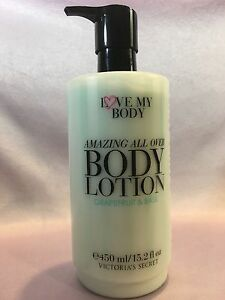 9357deaf108bb Details about VICTORIA'S SECRET LOVE MY BODY GRAPEFRUIT & BASIL ALL OVER  BODY LOTION 15.2 OZ