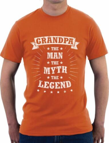 Grandpa The Man The Legend Father/'s Day Gift T-Shirt Grandfather