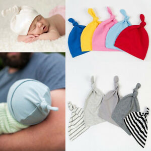 Child-Infant-Toddle-New-Baby-Knotted-Hat-Boys-Girls-Soft-Cap-Cotton-Beanie