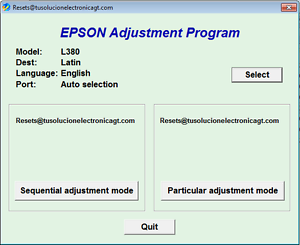 Details about Reset Waste Ink Pad Epson L380 - Delivery Email