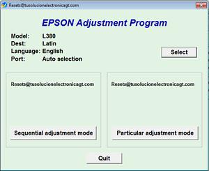 epson l380 driver software download