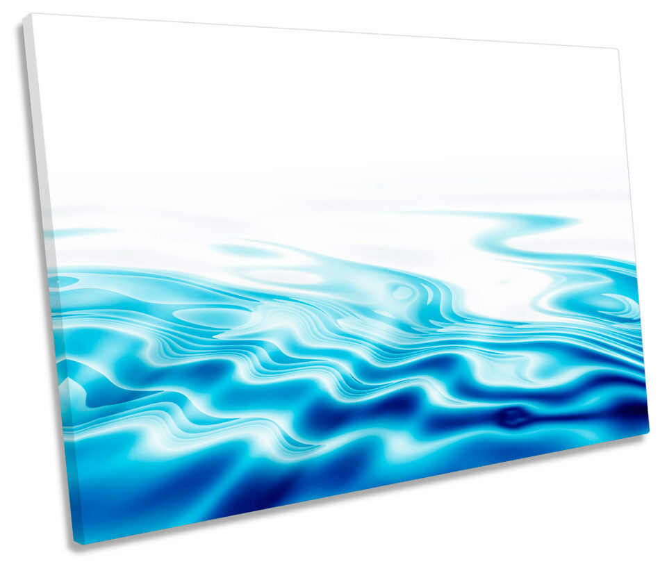 Blau Bathroom Water Ripples Picture SINGLE CANVAS WALL ART Print