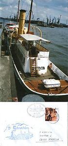 Ds Scharhorn Allemand Navire à Passagers En Cache Cover & Photographie En Couleur-afficher Le Titre D'origine