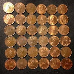 25 One Pence Unsearched FREE SHIPPING Old Great Britain Coin Lot