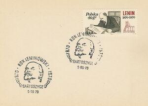 Poland postmark BARTOSZYCE - LENIN - Bystra Slaska, Polska - Poland postmark BARTOSZYCE - LENIN - Bystra Slaska, Polska