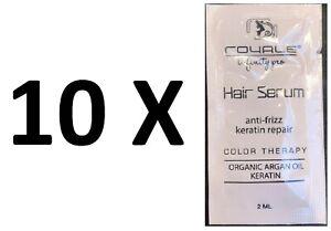 10-Royale-Queratina-amp-Organico-Aceite-de-Argan-Cabello-Suero-Antifrizz-amp-muestras-de-terapia-de