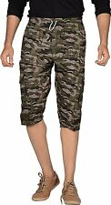 Army Printed Stylish Capri / 3 Quarter Pants For Men