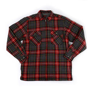 Wolverine-Sherpa-Lined-Flannel-Shirt-Jacket-Red-Plaid-Mens-Size-M-L-XL