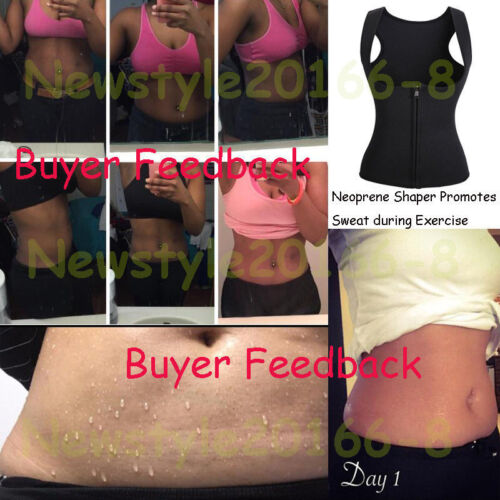 Women Neoprene Push Up Vest Sweat Waist Training Hot Body Shaper Cincher Belt