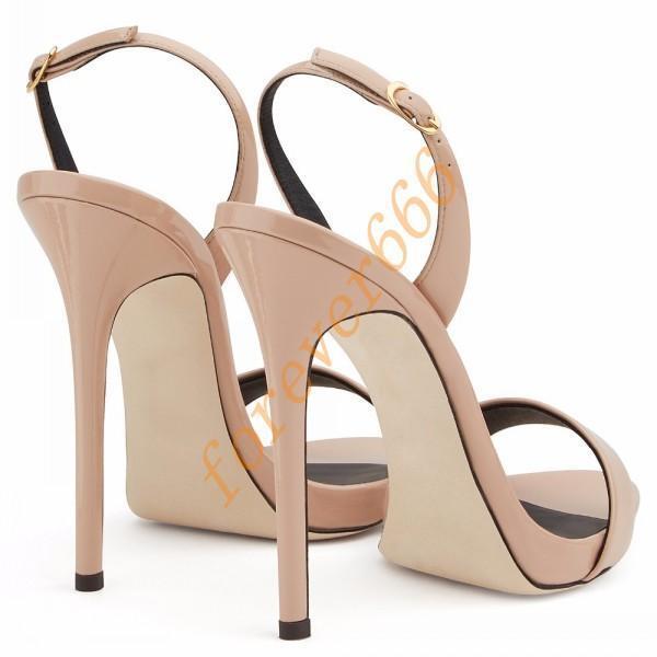 Gr.34-45 Sandalen High heels Schnalle Peep toe Pumps Slingbacks Damen Pumps toe c55522