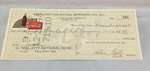 Tell-City-Coca-Cola-Coke-Bottling-Co-Check-646-December-22-1948