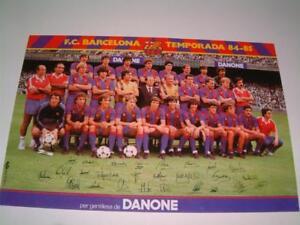 FC BARCELONA FC TEMPORADA 1984-85 RARE POSTCARD SIGNED ...