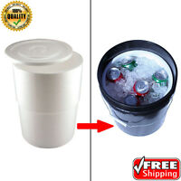 5-gallon Camping Bucket Job Site Evap Cooler Insert Liner Ice Chest, 3-pack