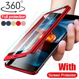official photos 8d0b2 93dcc Details about 360° Full Cover Shockproof Hard Case For Xiaomi Redmi Note 5  6 Pro Mi 8 Lite A2