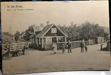 NÄSUM SWEDEN, SVERIGE,  Post Card 1905-15 Bromölla Skåne, STREET SCENE