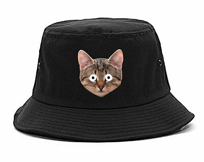 Kings Of NY Crazy Cats Printed Bucket Hat Kittens Funny