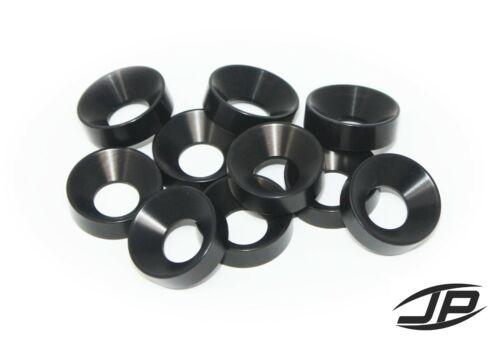 3//8 BLACK Anodized CNC Billet Aluminum Finishing body Washers .375 Qty 10 SQUARE