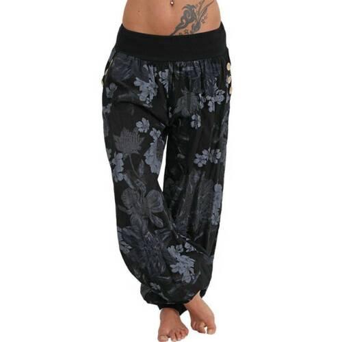 Women Plus Size Harem Trousers Pants Ladies Casual Baggy Boho Yoga Loungewear