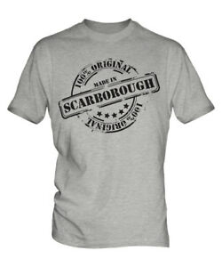 MADE IN SCARBOROUGH MENS T-SHIRT GIFT CHRISTMAS BIRTHDAY 18TH 30TH 40TH 50TH