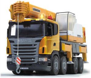 Bruder Scania Liebherr Crane Kids Toy Truck With Light