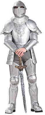 Chevalier en Brillant Armure Adultes Hommes Costume Médiéval Renaissance Argent