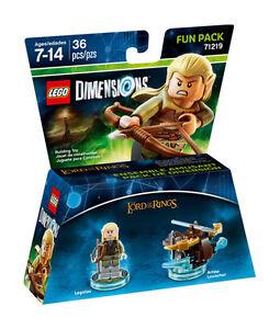LEGO-DIMENSION-71219-FUN-PACK-Lord-of-the-Rings-Legolas-signore-degli-anelli-new