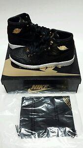 29d5a007ab8 Nike Air Jordan 1 Pinnacle Black Metallic 24k Gold (705075-030) Sz ...