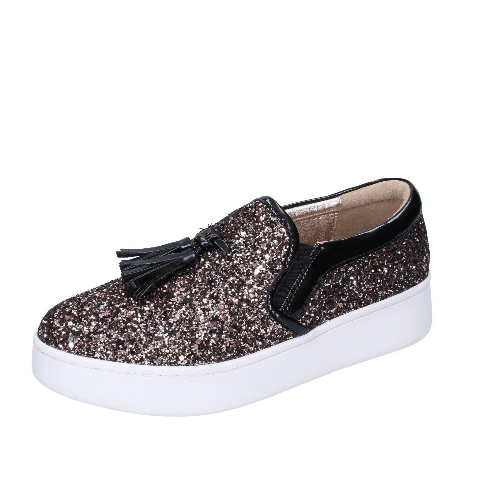 Women's shoes UMA PARKER 9 (EU 39) slip on brown glitter BR55-39